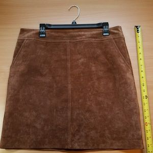 EUC ASOS by Warehouse Suede Fully Lined Skirt
